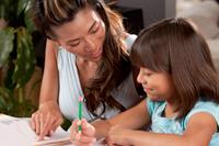 woman-homework